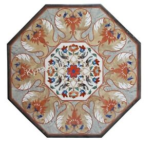 24 x 24 Inches Marble Coffee Table Mosaic Art Center Table for Home Furniture