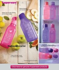 Set Of 4 Tupperware Square Water Bottle Flip Top - 1 Ltr /1000 ml Free shipping