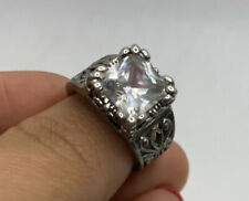 Silpada Sterling Silver Square Cz Ring Size 8
