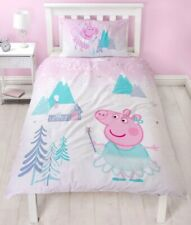 "OFFICIAL Peppa Pig ""Sugarplum "" REVERSIBLE , Single Duvet Cover  FREE DELIVERY !"