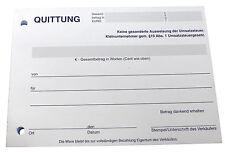10 x QUITTUNGSBLOCK für Kleinunternehmer, SD,2 x 50 BLATT,QUITTUNG (22427)