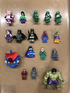 Lego Minifigure LOT Marvel + DC figures + Ninja Turtles + spare parts