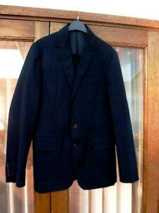 Mens Aquascutum Unstructured  Navy Cotton / Elastane Blazer/ workwear Small