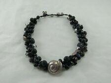 Incredible Designer Black & Silver Sea Life Necklace