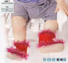 PATTERN Lavoro A Maglia Rapida scarpine per neonato & uncinetto amigurum Natale Decorazioni LCM M11A