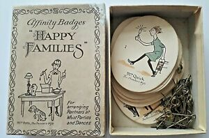 ANTIQUE PLAYING CARDS VERY RARE AFFINITY BADGES HAPPY FAMILIES WHIST BRIDGE 1900