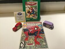 1990-92 Spider Man Set, 1990 Comic Boarded, 1992 Diecast Lot 2 Cars