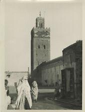 La mosquée de Marrakech (Maroc, Morocco). Ca. 1935.