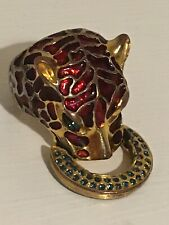 Mawi Red Enamel Panther ring
