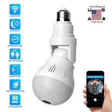 1080P 360°HD Wifi Bulb Hidden IP Camera 1080P Panoramic Security Cam LED Light