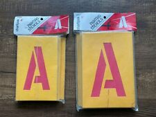 """Painting Stencil Set Letters Numbers 4"""" & 5"""" Spray or Brush Chartpak 01565 01570"""