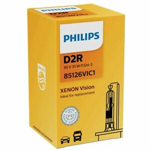 Philips Vision D2R Headlight Replacement Xenon Bulb 85126VIC1 Single