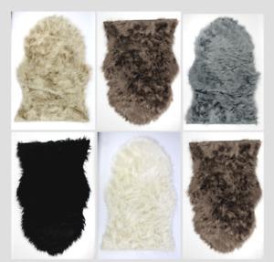 Soft Shaggy Room Mats Fluffy Sheepskin Rugs Non Slip Bedroom Living Room Mats