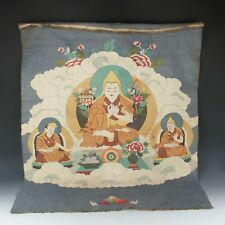 Antique Chinese Collection Silk Tapestry Embroidery Kesi Tibetan Thang-ga