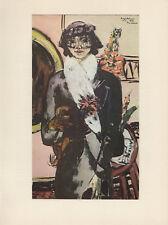 "1974 Vintage BECKMANN ""QUAPPI with WHITE FUR"" FABULOUS COLOR Offset Lithograph"