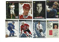 1995 Be a player Hockey Card UD Auto Signature Autograph LOT of 13 L@@k