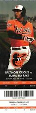 BALTIMORE ORIOLES VS TAMPA BAY RAYS-MAY 19,2013-FULL TICKET