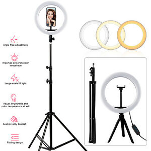 210cm LED Dimmbar Ringleuchte Ringlicht - Handy Stativ für Live YouTube Tik Tok