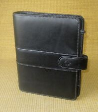 Classic 125 Rings Black Sim Leather Franklin Covey Open Plannerbinder