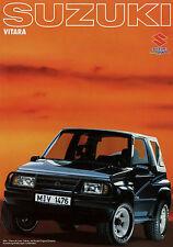 Suzuki Vitara Prospekt 1990 Autoprospekt Broschüre Auto PKW Geländewagen catalog