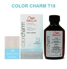 WELLA COLOR CHARM LIQUID HAIR TONER 1.4oz T18 LIGHTEST ASH BLONDE