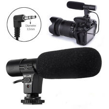3.5mm DV Stereo Microphone Mic For Nikon D7000 D300s D5100 D5300 D3300 D3200