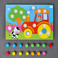 Educational Toys Funny Wooden Toys Kids Cartoon Puzzle Jigsaw Toy Kid Learning