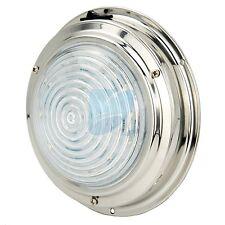 """12V Stainless Steel LED Dome Light Boat Marine RV Cabin Ceiling Lamp 5.5"""""""