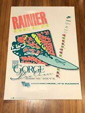 Vintage 1990 Rainier Beer Gorge Pro Am Wind Surfing Hood River Promo Poster Rare