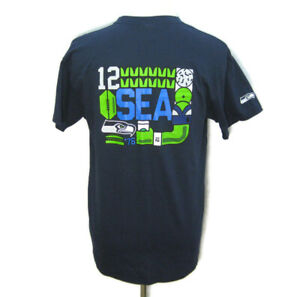 New SEATTLE SEAHAWKS Men's (Size XL) NFL Blue Graphic T-Shirt Starbucks Coffee