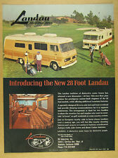 1972 Landau 28 ft Motorhome RV color photos vintage print Ad