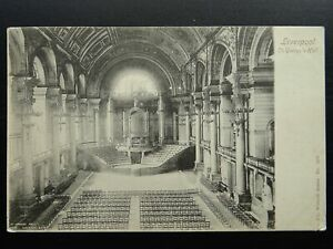 Merseyside LIVERPOOL St. George's Hall c1903 Postcard by The Wrench Series 3202