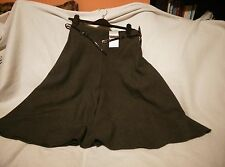 Debenhams Petite Collection Charcoal Checkered Skirt Size 8