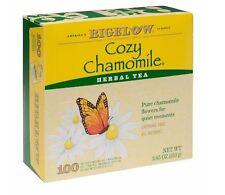 Bigelow Cozy Chamomile Orginic Caffine Free Herbal Tea 100 Bags All Natural