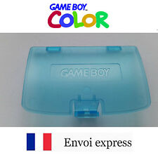 Cache pile Bleu Cyan transparent Game Boy Color neuf [Battery cover Gameboy GBC]