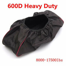Waterproof Soft SUV Winch Dust Capstan Cover 600D Driver Recovery 8000-17500 lbs