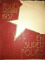 1937 VINTAGE FOLIES BERGERE RARO PROGRAMMA RIVISTA JOSEPHINE  BAKER  pubblicità