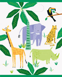 8 x Animal Safari Birthday Party Loot Bags Jungle Party Decorations