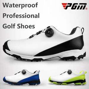 PGM Men Fixed Spikes Non-Slip Golf Shoes Waterproof Rotating Shoe Lace Sneaker