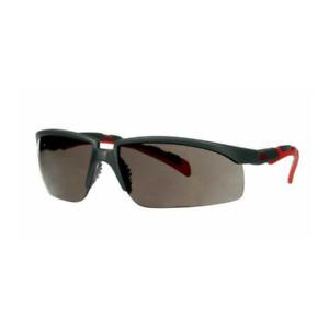 3M Solus Safety Glasses S2002SGAF-RED, Gray/Red, Scotchgard Gray AF-AS lens
