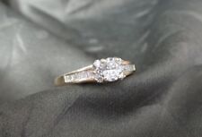 Stunning 14K Yellow Gold & Solitaire Diamond Anniversary / Engagement Ring
