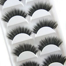 New Makeup 5 Pairs Luxurious 3D False Eyelashes Cross Natural Long Eye Lashes