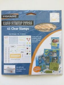 Fiskars Clear Acrylic Rubber Stamps THANK YOU Love NEW