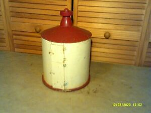 Vintage Bird House/Bird Feeder Metal & Wood.16 Inches Tall 10 Inches Diameter