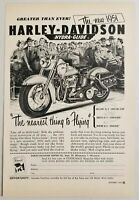 1950 Print Ad Harley-Davidson Hydra-Glide Motorcycle for 1951