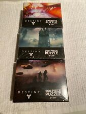 "DESTINY LOT 3 200-PIECE JIGSAW PUZZLES Various Sealed "" 9"" x 11"""