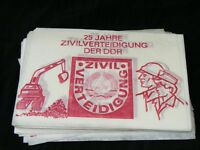 Platzdeckchen DDR  Kult Tischdecke Platz  Platzdecke 25 Jahre Zivilverteitigung