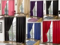 PAIR OF RING TOP THERMAL SOLAR BLACKOUT EYELET READY MADE CURTAINS FOR SUMMERS