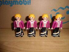 Playmobil, FIGURAS, OESTE, MUJERES FALDAS, LOTE FIGURAS, MUJERES