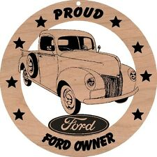 1940 Ford Pickup Wood Ornament Engraved